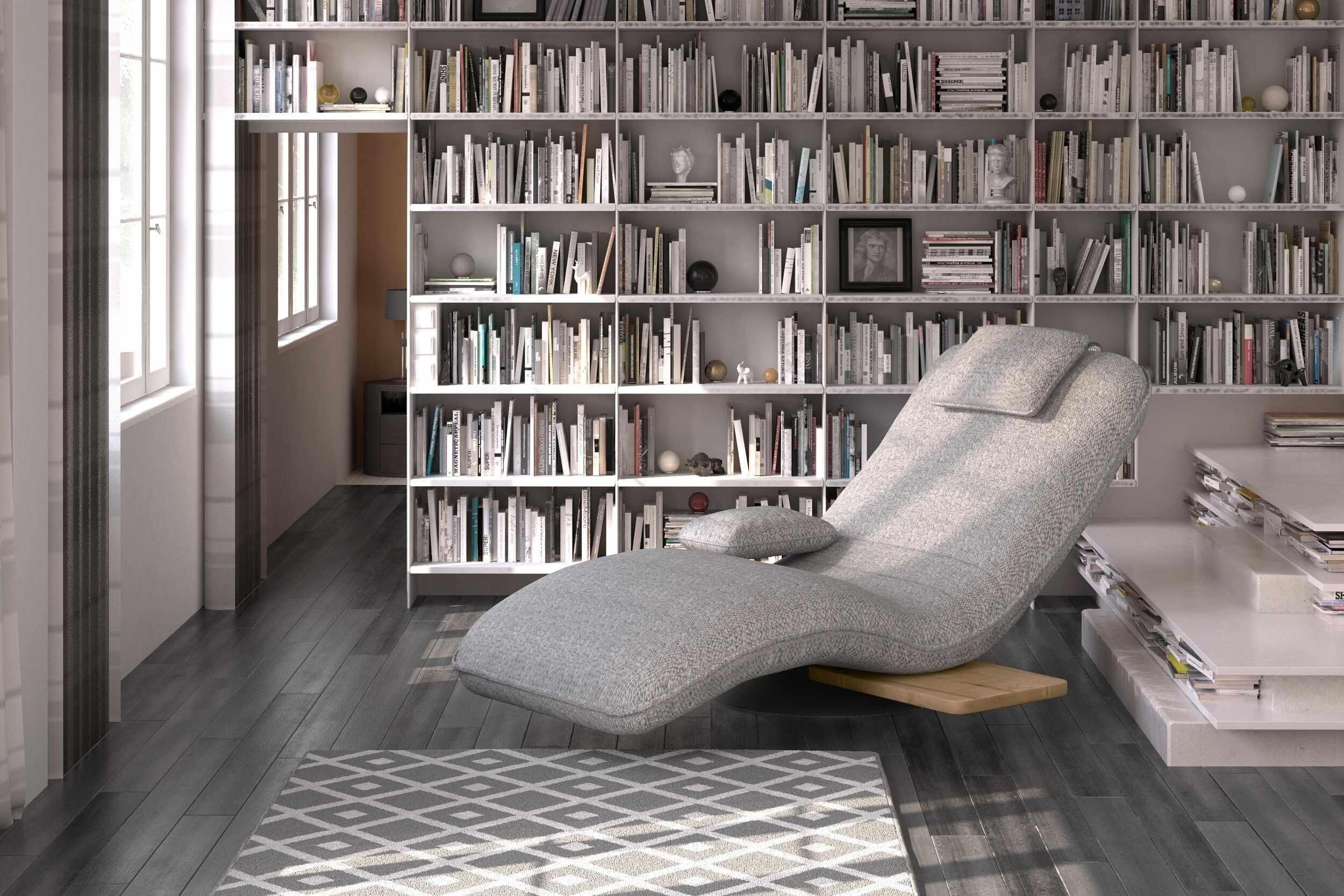Fotoliu sezlong relaxare, tapitat cu stofa Evo Gri, l78xA163xH86 cm la pret 3031 lei