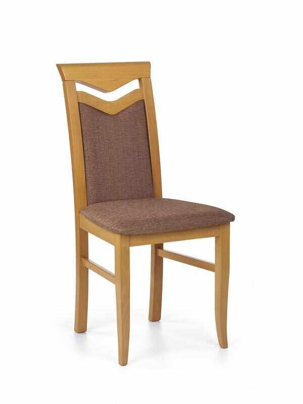Scaun din lemn de fag, tapitat cu stofa Citrone Arin, l44xA43xH96 cm la pret 275 lei