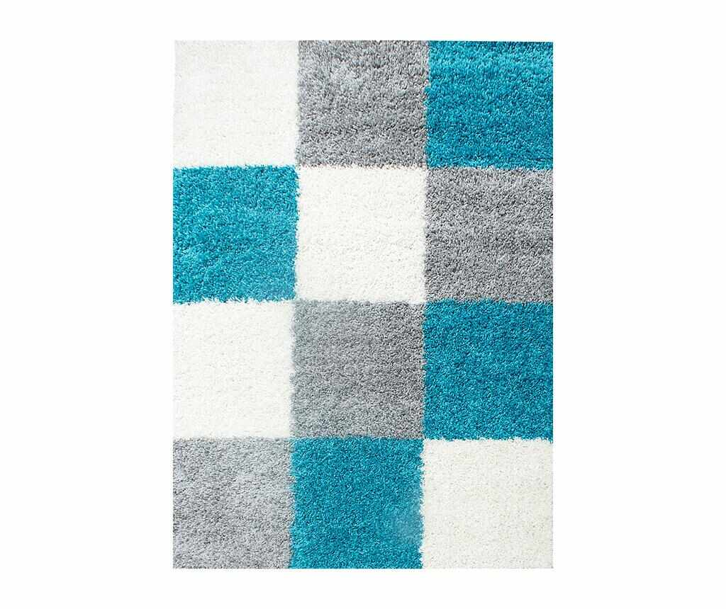 Covor Life Squares Turquoise 160x230 cm