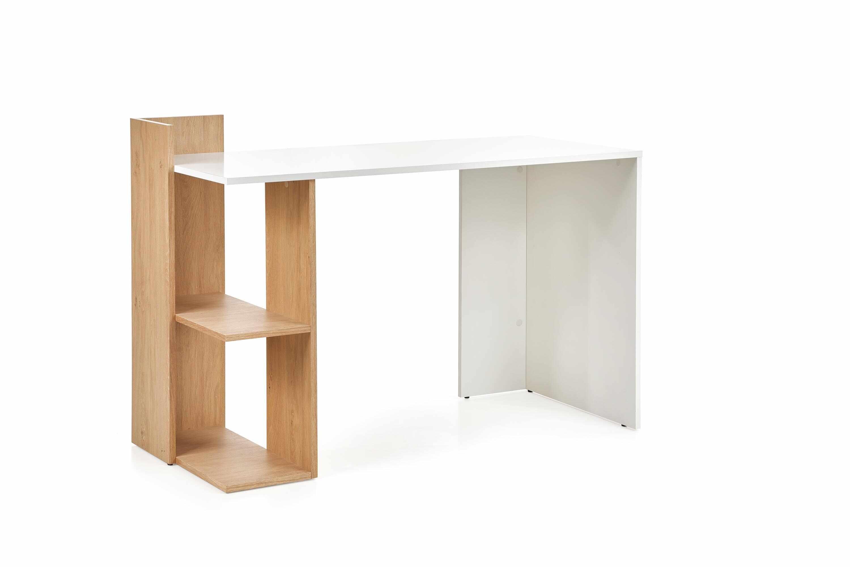 Masa de birou din pal Fino Stejar / Alb, L122xl57xH85 cm la pret 238 lei