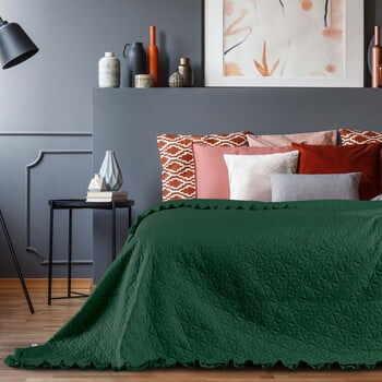 Cuvertură AmeliaHome Tilia, 240 x 220 cm, verde la pret 156 lei