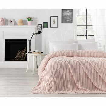 Cuvertură ușoară Camila, 220 x 240 cm, roz deschis la pret 668 lei