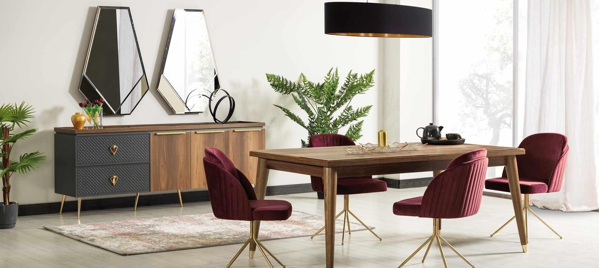 Set de mobila dining din pal si metal, 10 piese Pietro Nuc la pret 11180 lei