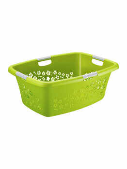 Cos rufe 50L Flowers, Rotho, 92490, plastic, Verde
