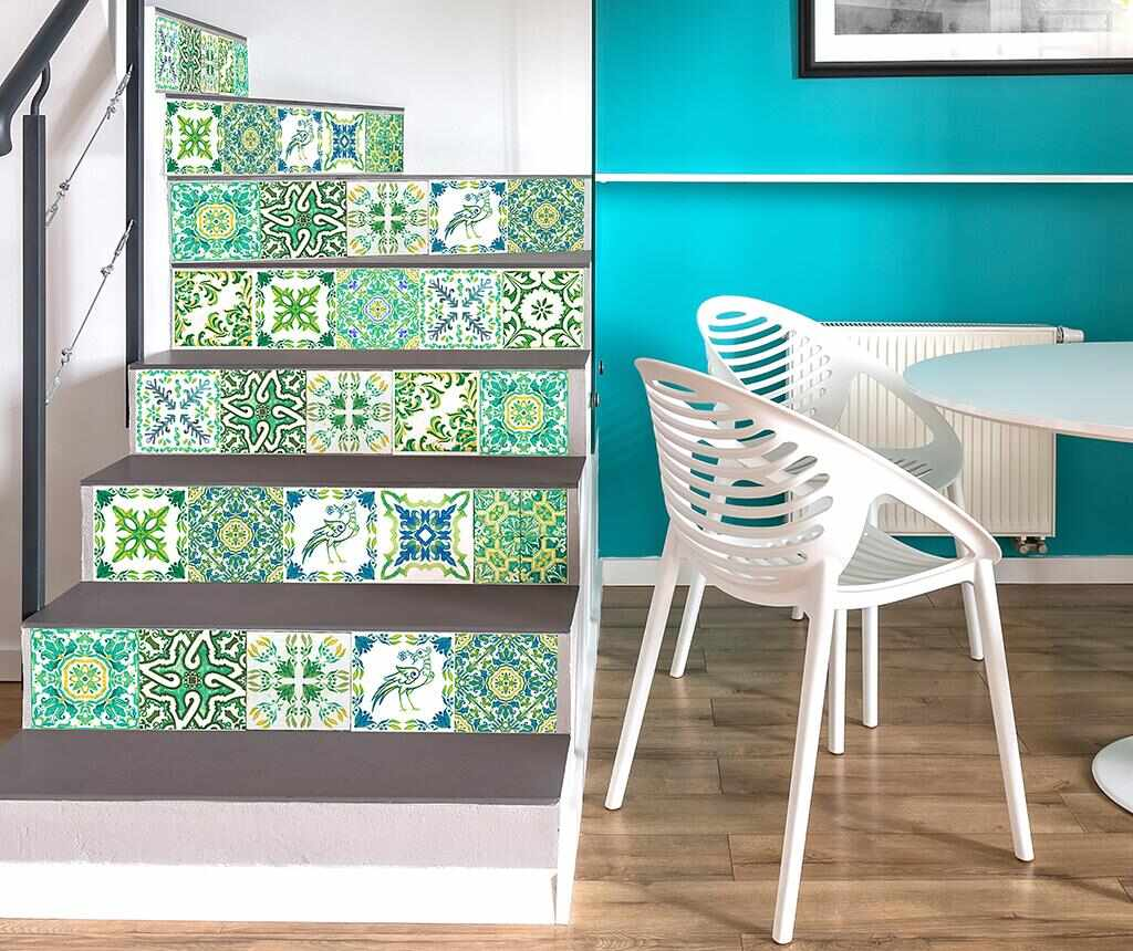 Set 24 stickere Tile Turkish Green la pret 65.99 lei