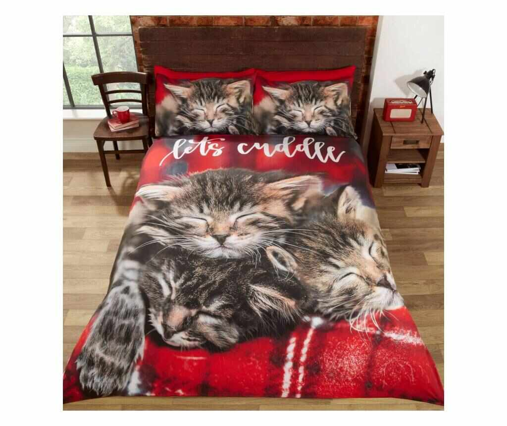 Set de pat Single Cuddle Cats la pret 69.99 lei