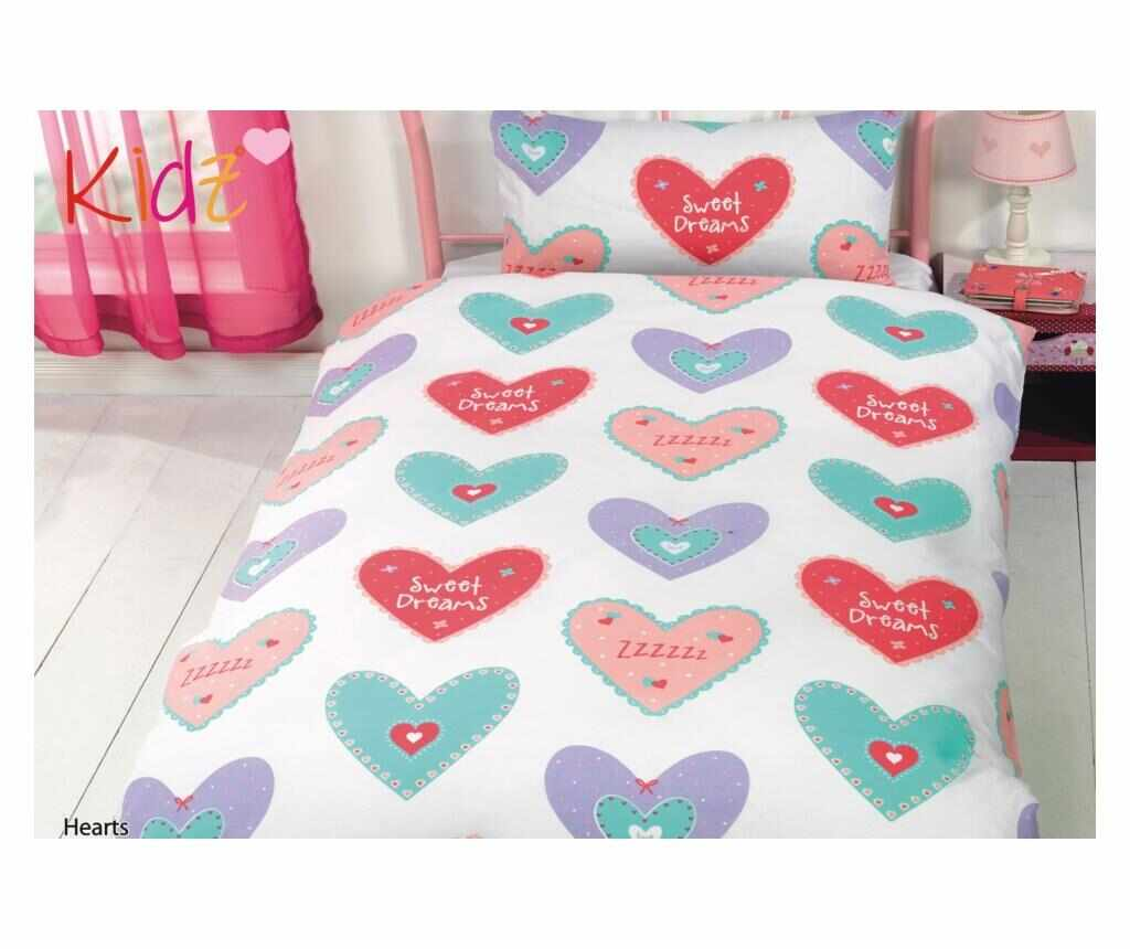 Set de pat Single Hearts la pret 55.99 lei