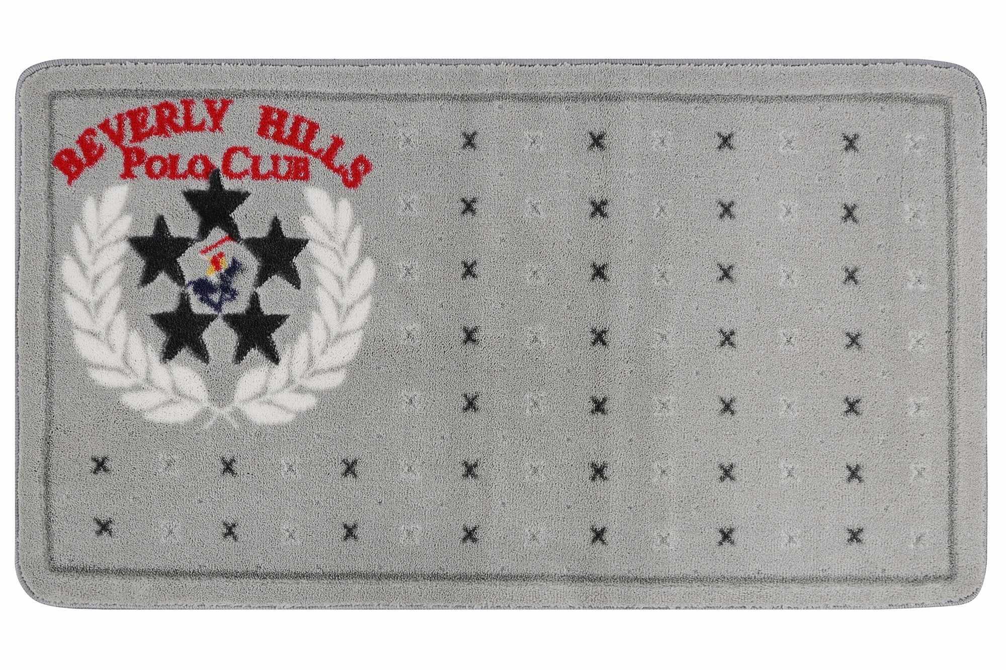 Covoras pentru baie Beverly Hills Polo Club 317 Gri, 67 x 120 cm la pret 225 lei