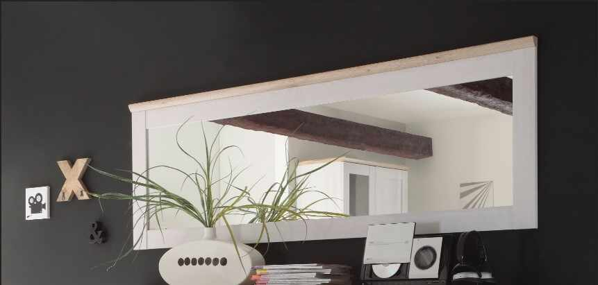 Oglinda decorativa cu rama din pal Romina Alb / Stejar San Remo, L186xl63 cm la pret 299 lei