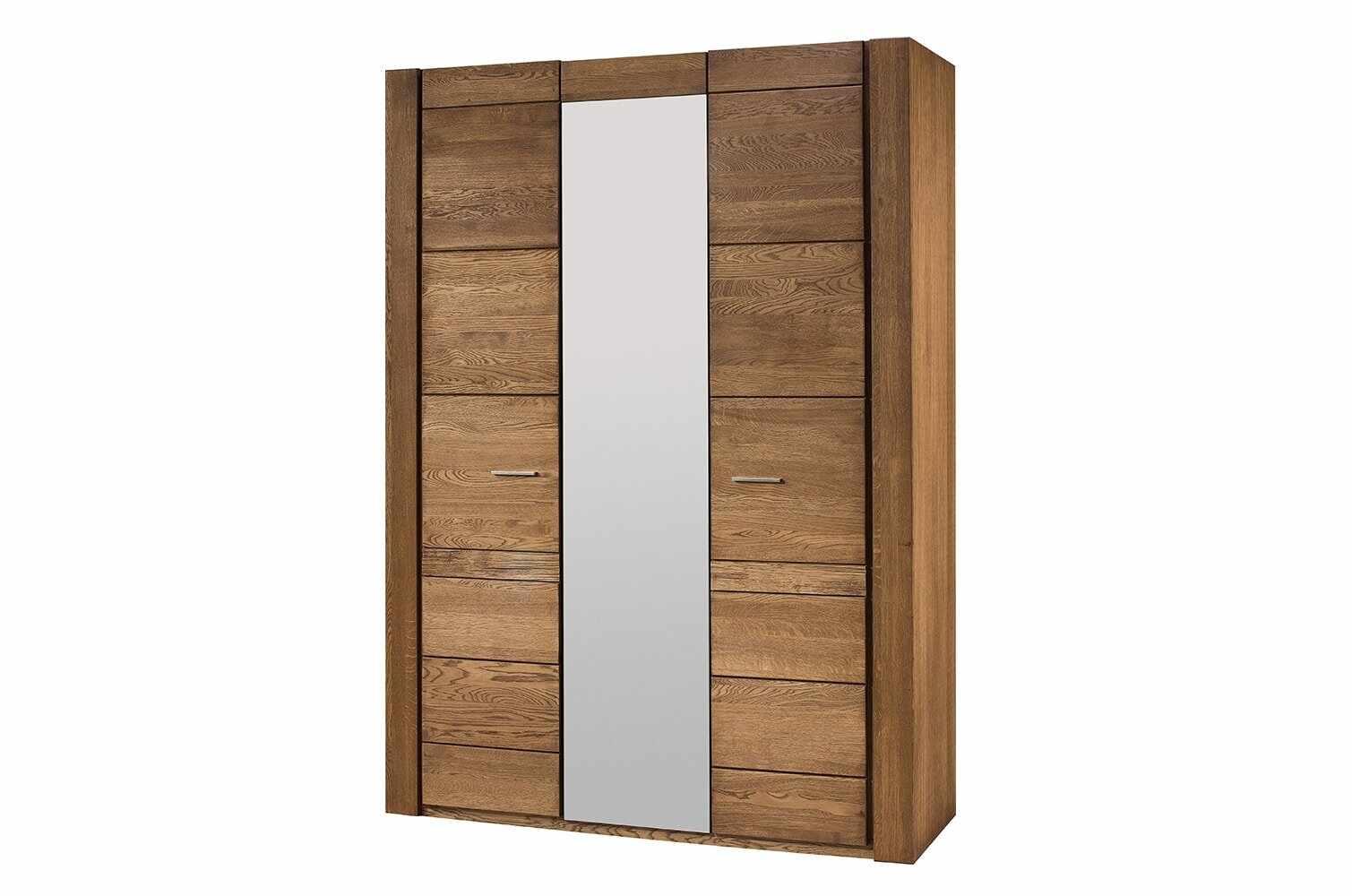 Dulap din furnir si pal, cu 3 usi si oglinda Velvet 73 Stejar Rustic, l160xA60xH225 cm la pret 5521 lei
