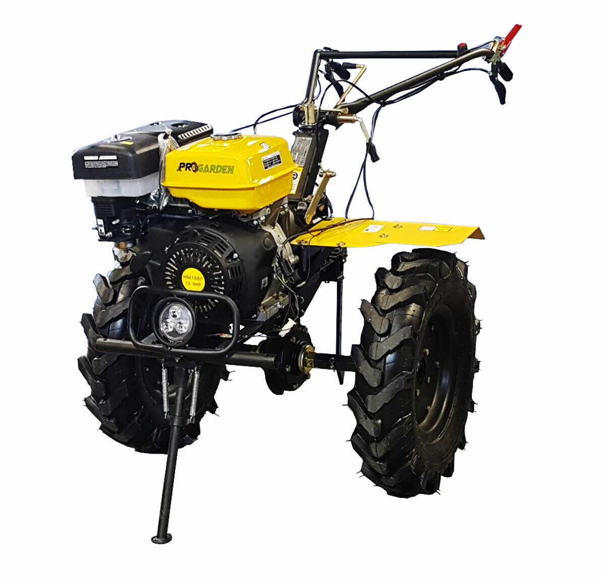 Motocultor ProGarden HS1100D, 4 timpi, motor benzina 188F 13 CP, latime lucru 50-110 cm, cu far la pret 3514.05 lei