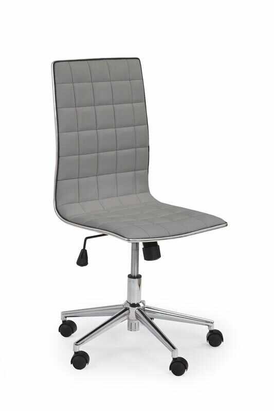 Scaun de birou ergonomic, tapitat cu piele ecologica Tirol Gri, l44xA46xH97-107 cm la pret 327 lei