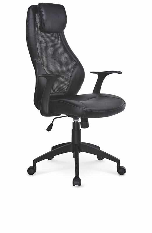 Scaun de birou ergonomic, tapitat cu piele ecologica Torino Negru, l64xA63xH114-124 cm la pret 484 lei
