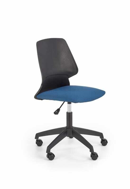 Scaun de birou pentru copii, tapitat cu stofa Gravity Negru / Albastru, l47xA56xH84-94 cm la pret 247 lei