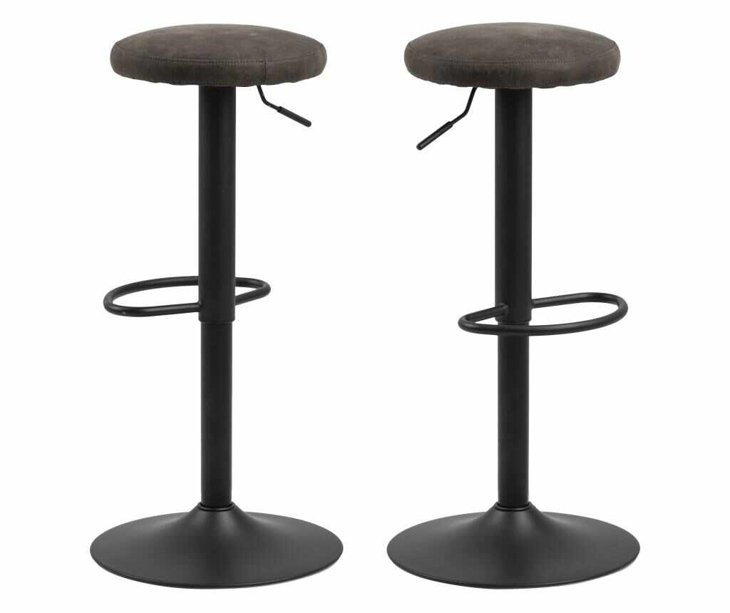 Set 2 scaune de bar Finch Dark Grey