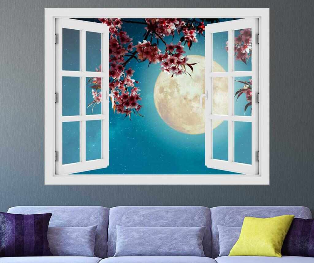 Sticker 3D Window Cherry Blossom la pret 75.99 lei