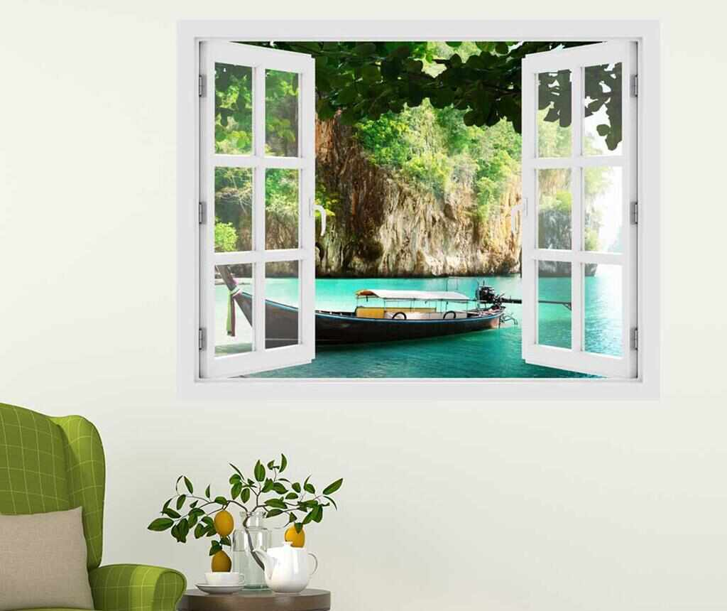 Sticker 3D Window Thailand Boat la pret 69.99 lei