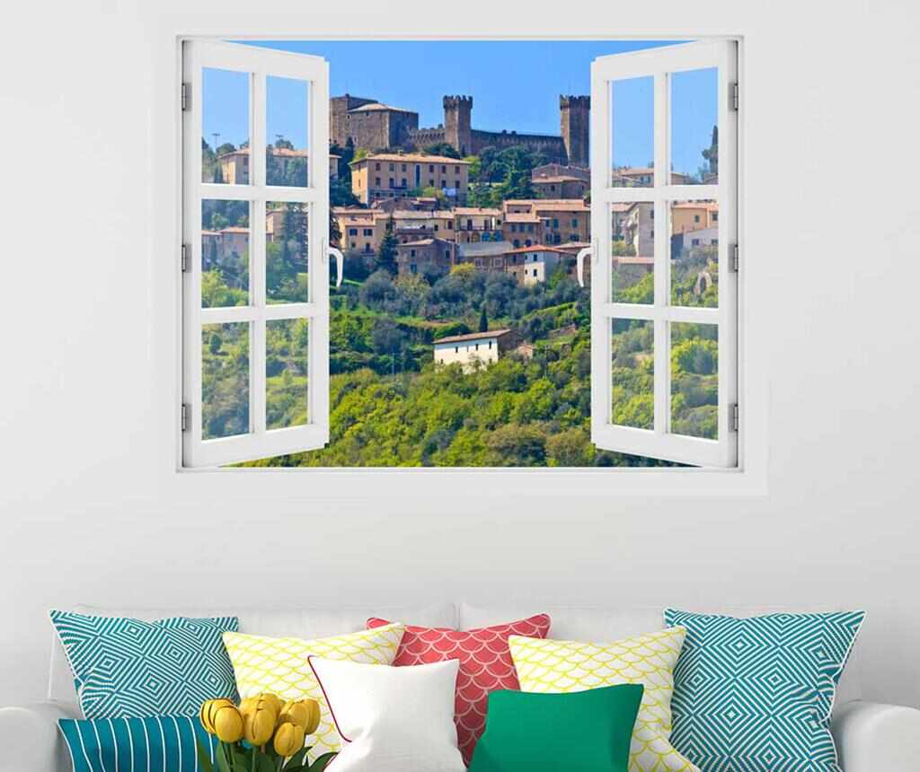 Sticker 3D Window Toscana Montalcino la pret 55.99 lei