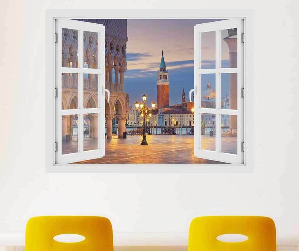 Sticker 3D Window Venice Saint Mark la pret 59.99 lei