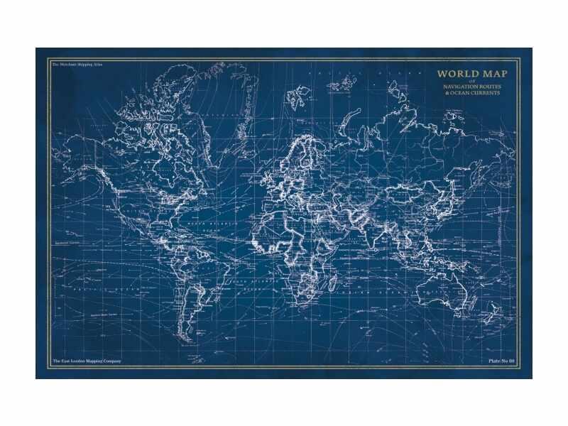 Tablou Sticla Map, 120 x 80 cm la pret 486 lei