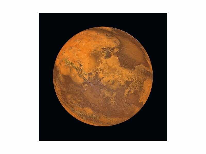 Tablou Sticla Mars, 80 x 80 cm la pret 358 lei