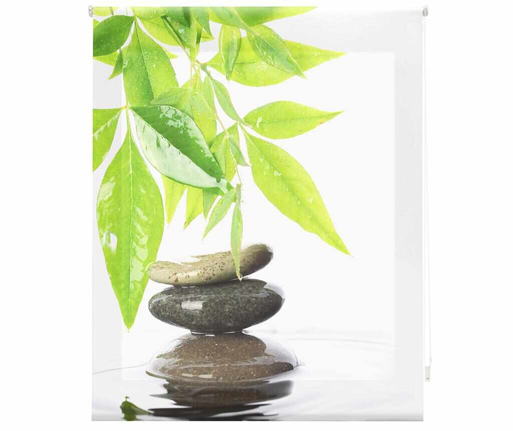 Jaluzea tip rulou Stones and Bamboo Leaf 140x180 cm la pret 199.99 lei
