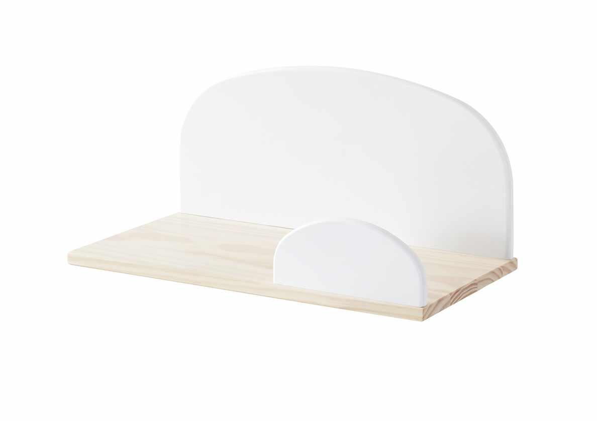 Etajera suspendata din lemn de pin si MDF, pentru copii Kiddy Small Alb, l45xA25xH21,4 cm la pret 208 lei