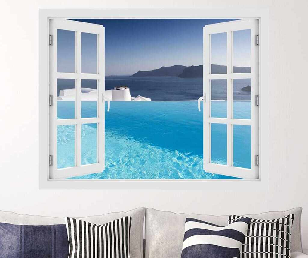 Sticker 3D Window Pool Aegean Sea la pret 75.99 lei