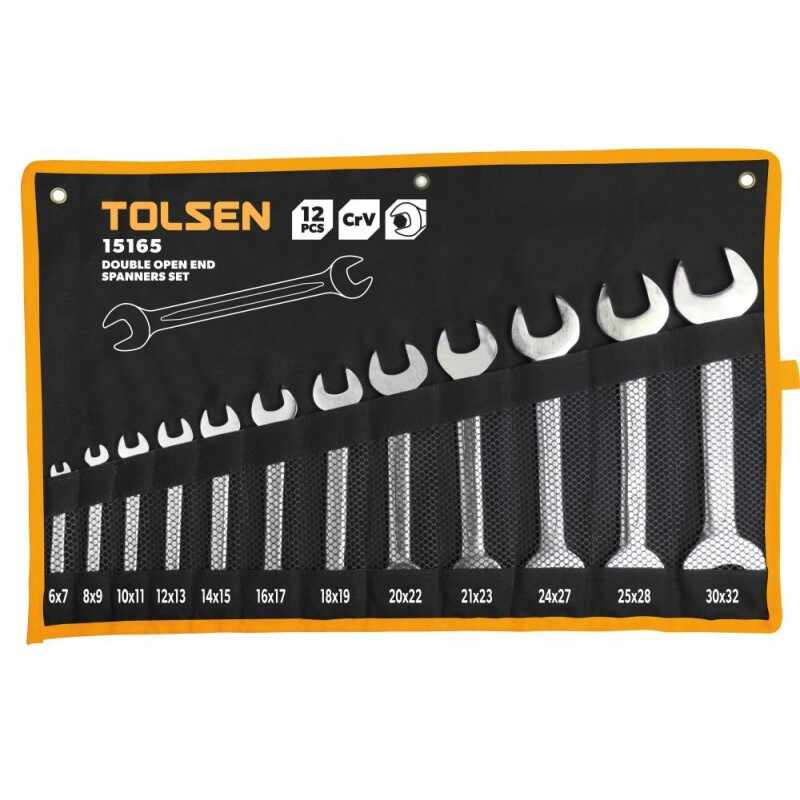 Set 12 chei Tolsen, piulite cu capat deschis dublu Cr-V, 6-32 mm la pret 166 lei