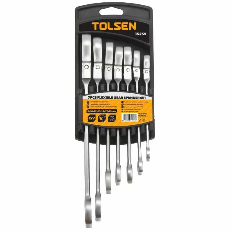 Set 7 chei Tolsen, piulite combinate flexibile, Cr-V la pret 178 lei