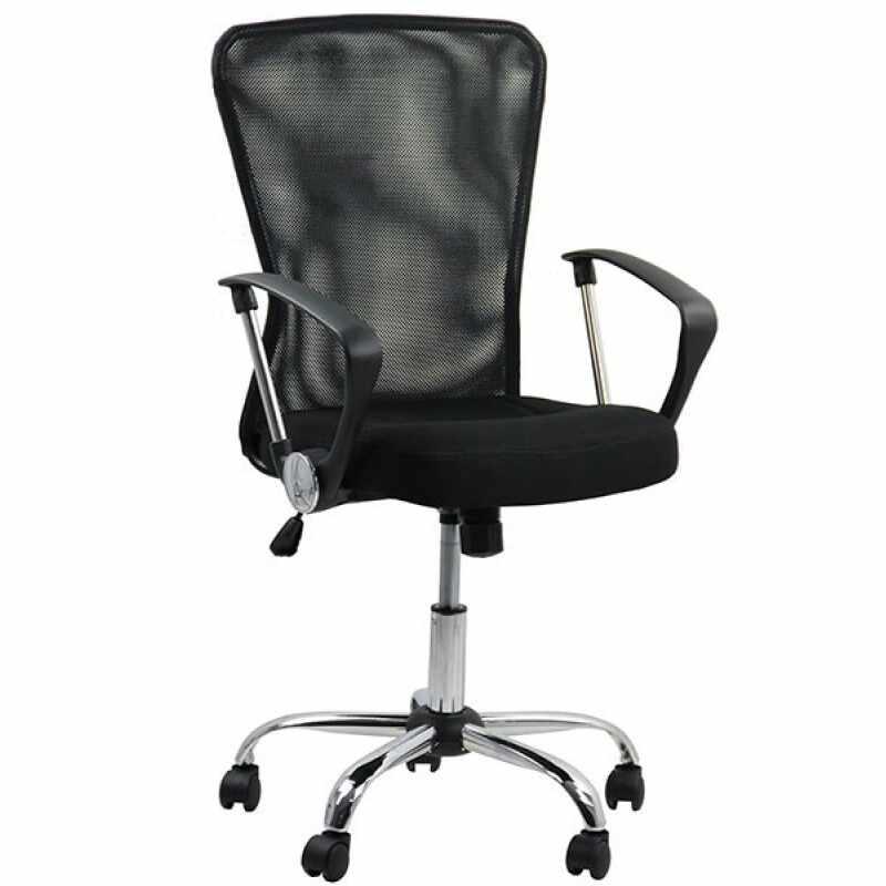 Scaun pentru birou, inaltime 108 cm, suporta maxim 110 kg, Negru la pret 262 lei