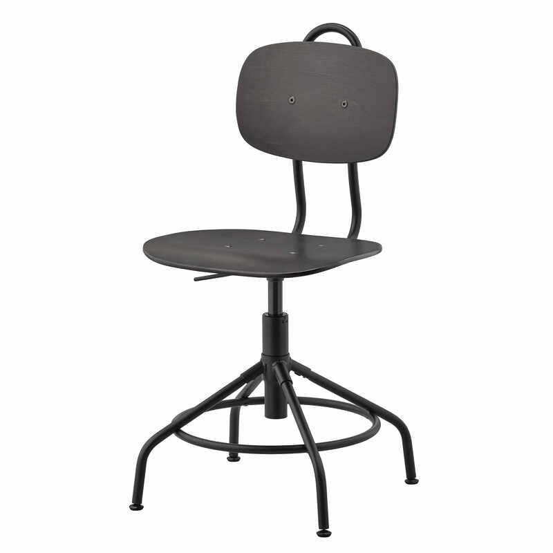 Scaun rotativ pentru birou, inaltime 94 cm, picioare reglabile, Negru la pret 303 lei