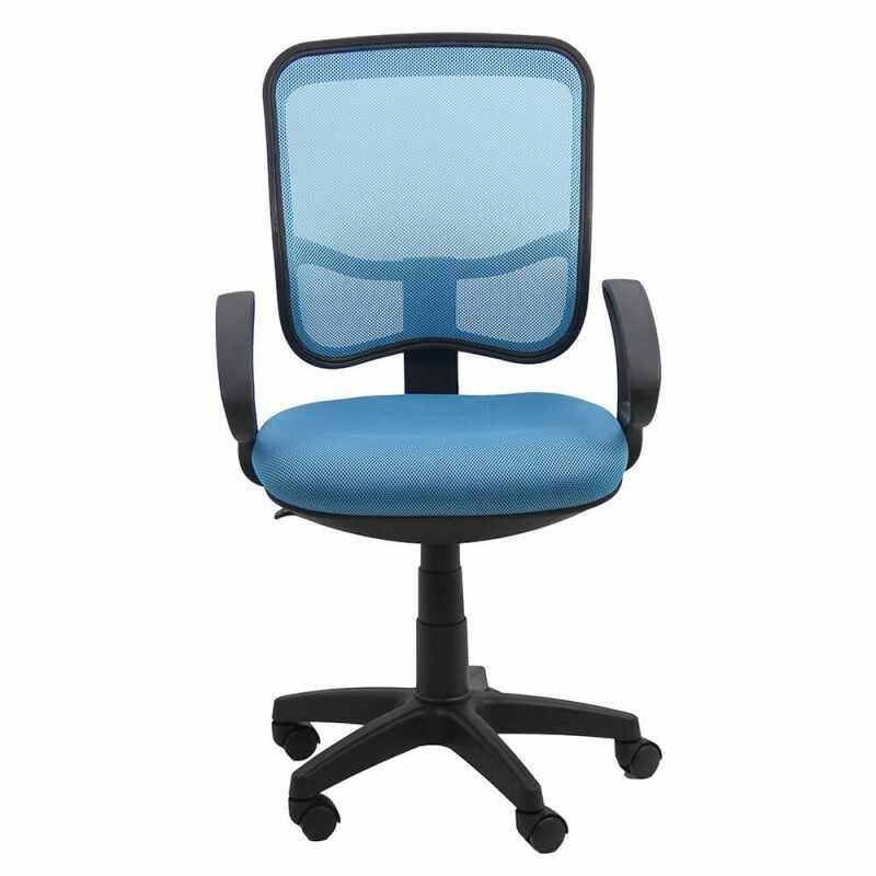 Scaun de birou, material mesh, suporta maxim 100 kg, albastru la pret 206 lei