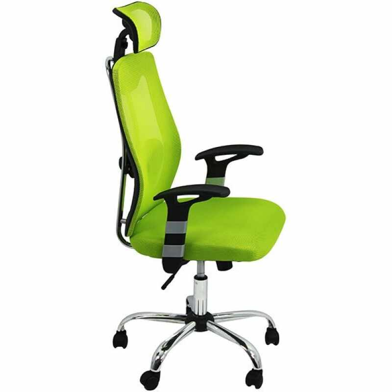 Scaun ergonomic de birou, inaltime 128 cm, suporta maxim 110 kg, verde la pret 456 lei