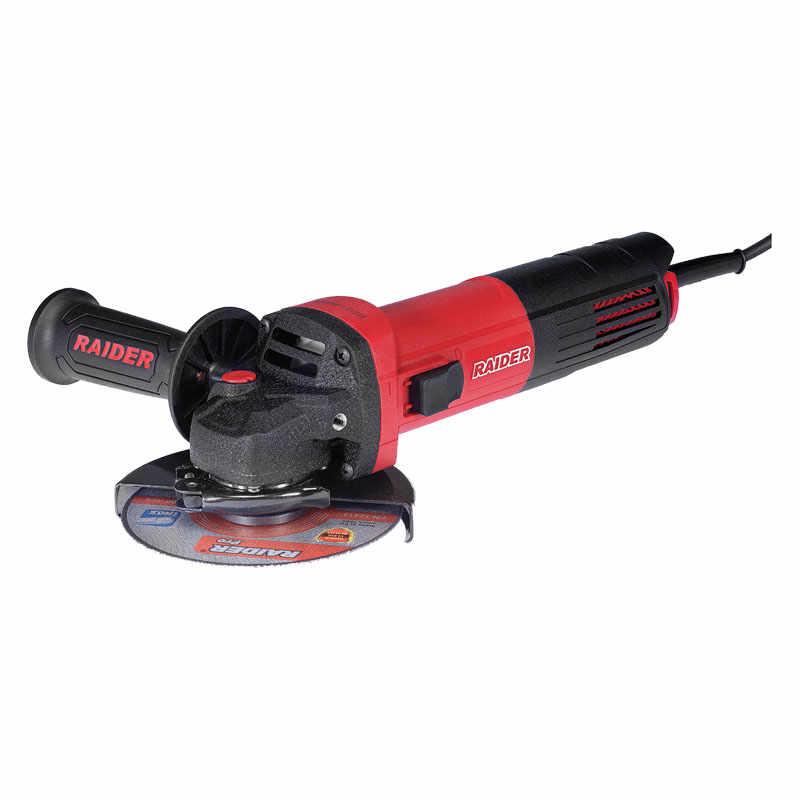 Polizor unghiular Raider, 850 W, 11000 rpm, disc 125 mm, maner auxiliar, filtru praf la pret 295 lei