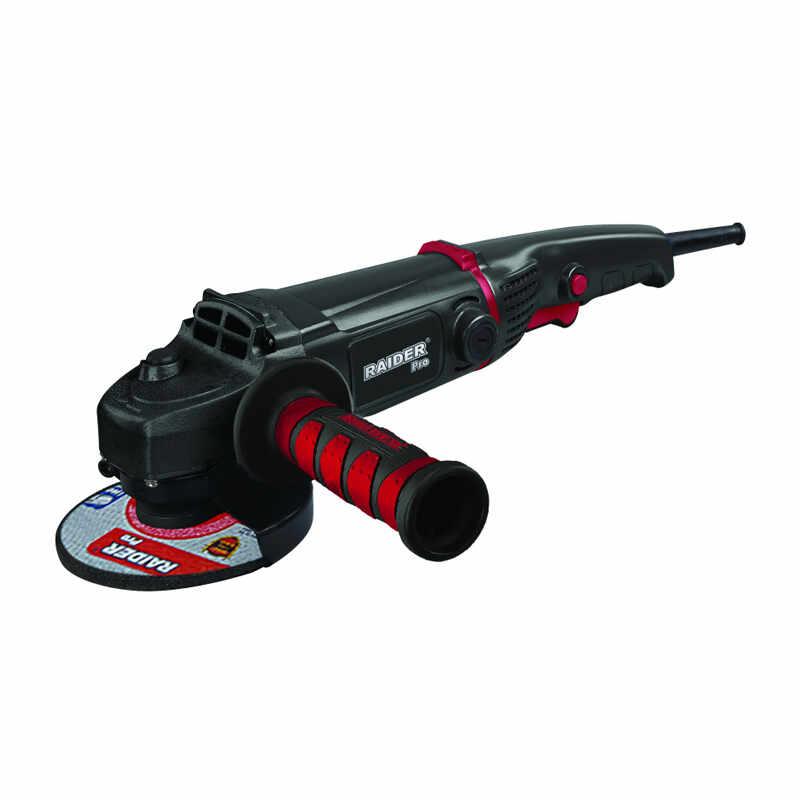 Polizor unghiular Black Edition Raider, 1200 W, 125 mm, 9000 rpm, maner auxiliar la pret 271 lei