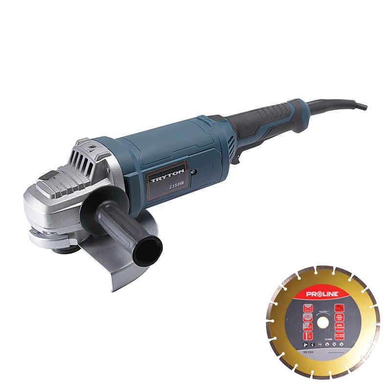 Polizor unghiular Tryton, 2350 W, 230 mm, 6000 rpm, geanta inclusa la pret 654 lei
