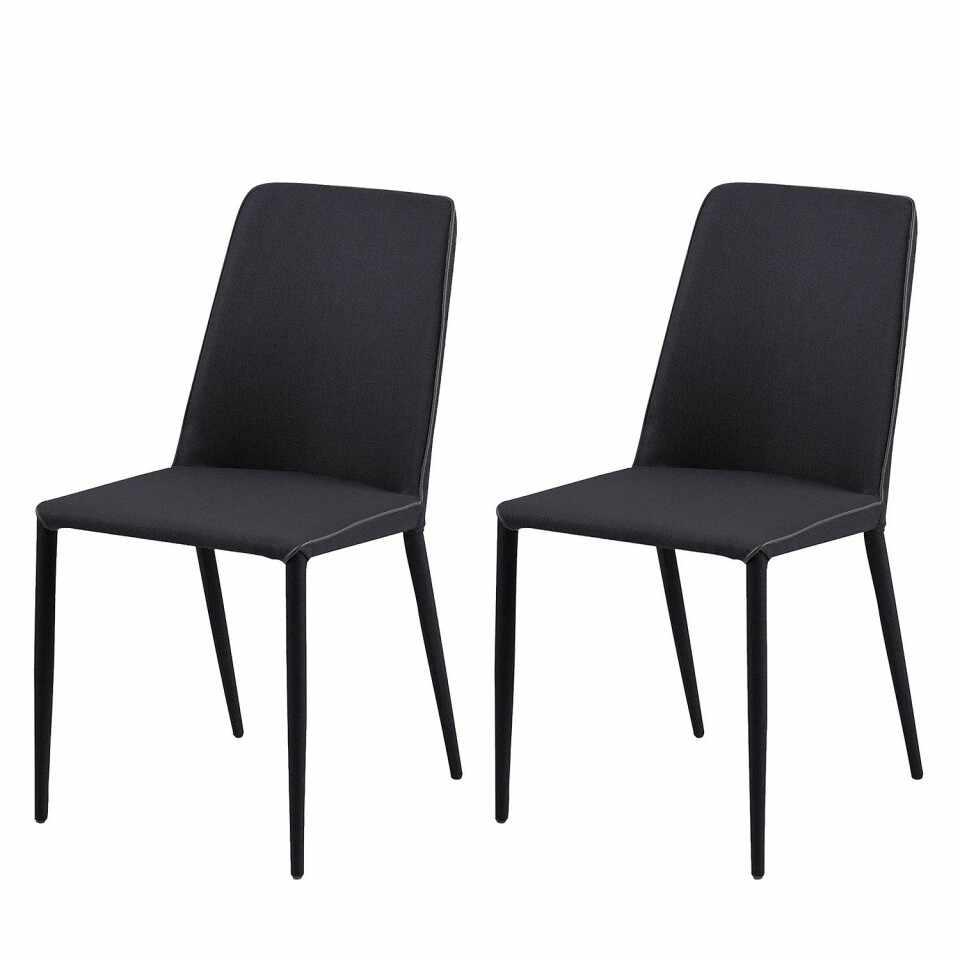 Set de 2 scaune Maredale tesatura/metal, gri antracit, 47 x 87 x 57 cm la pret 385 lei