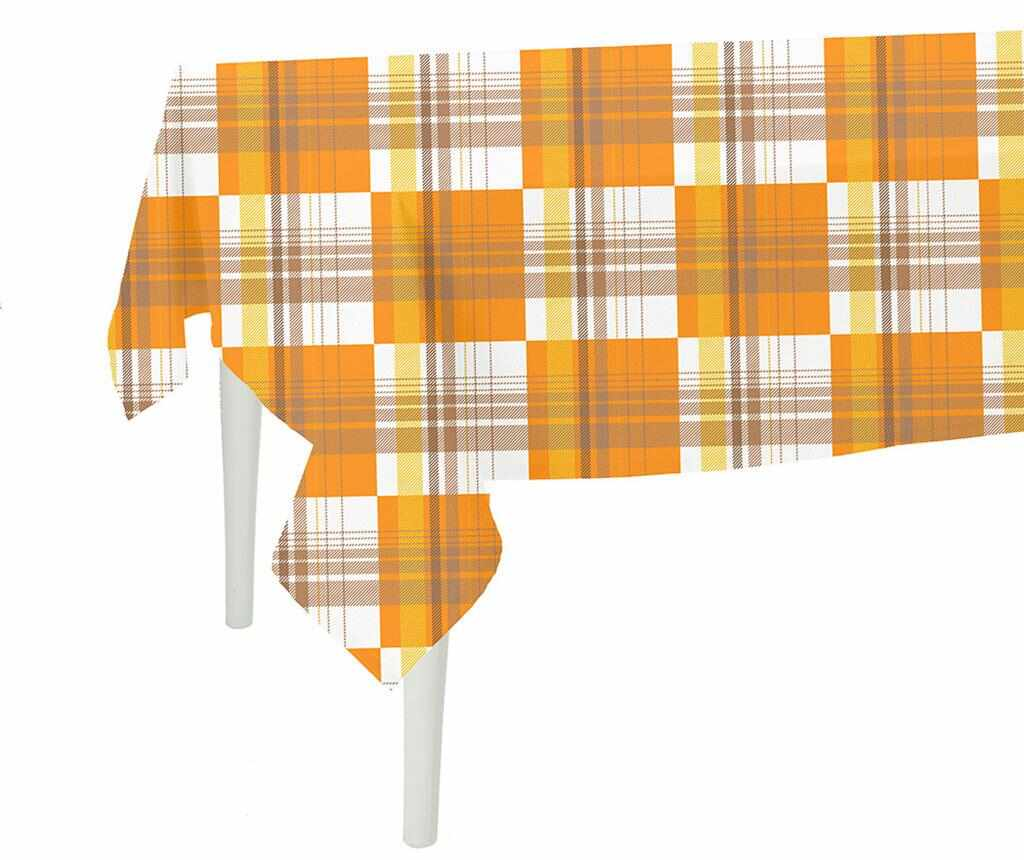 Fata de masa Orange Checks 140x140 cm la pret 64.99 lei