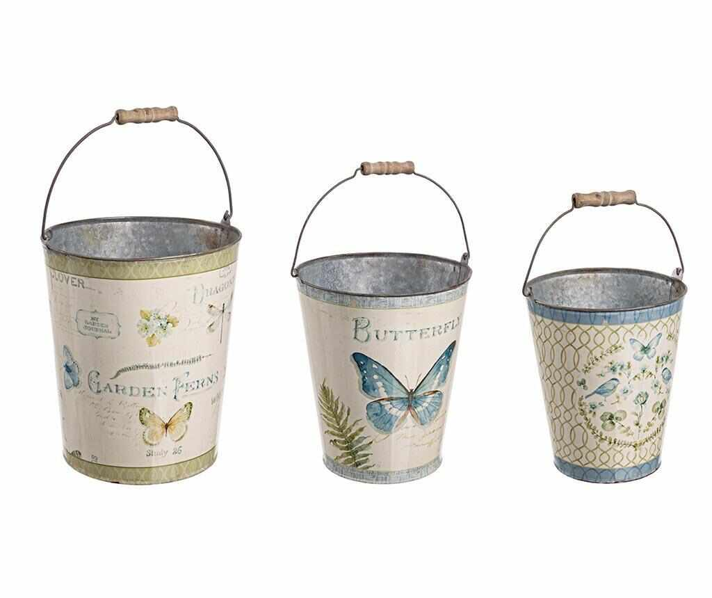 Set 3 galeti decorative Butterfly