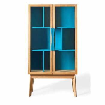 Bibliotecă / vitrină Woodman Avon, albastru la pret 2692 lei