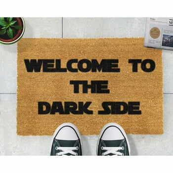Covoraș intrare din fibre de cocos Artsy Doormats Welcome to the Darkside, 40 x 60 cm la pret 108 lei