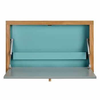 Masă extensibilă de perete Woodman Banti, albastru la pret 924 lei