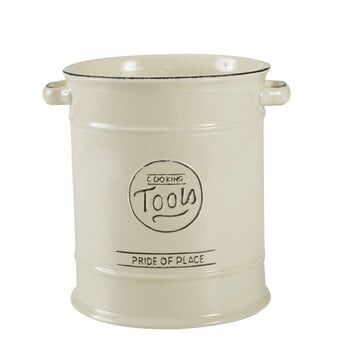 Recipient ceramic pentru ustensile de bucătărie T&G Woodware Pride of Place, crem la pret 160 lei
