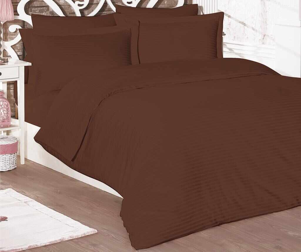 Lenjerie de pat King Satin Classic Line Brown