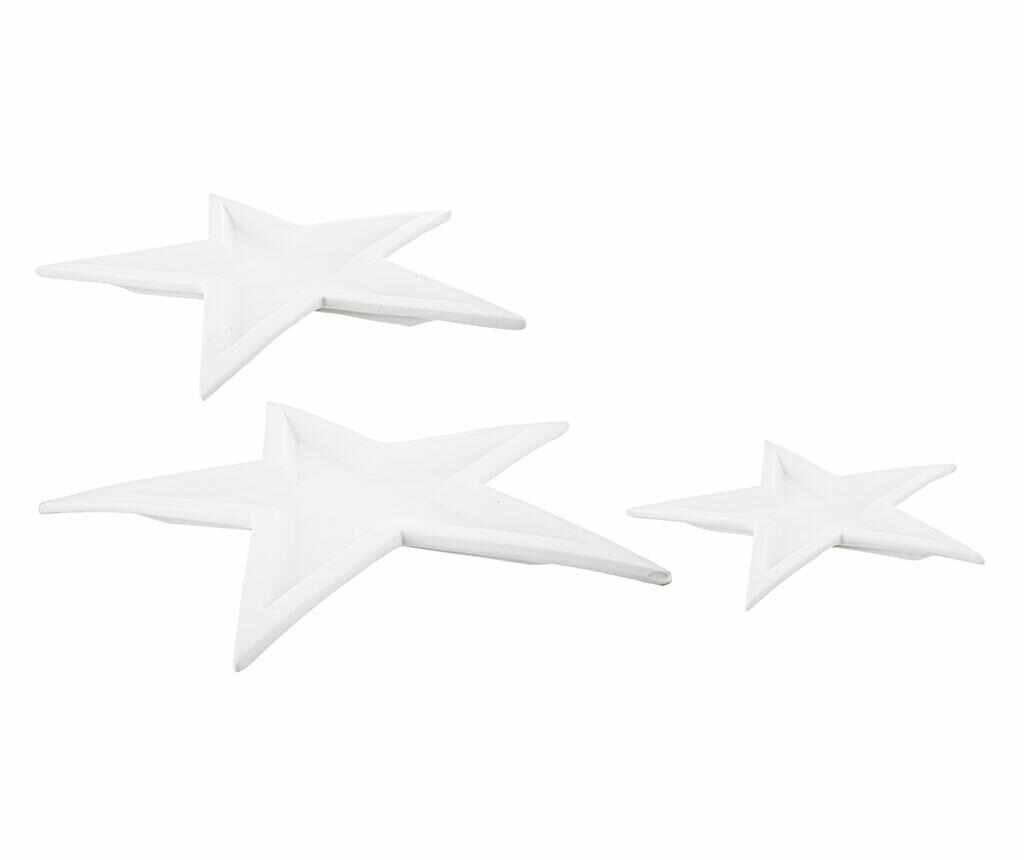 Set 3 platouri decorative Twins Star White