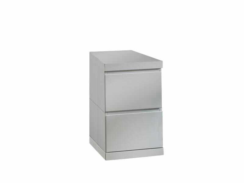 Cabinet din lemn de pin si MDF cu 2 sertare, pentru copii si tineret Lara Alb, l40xA60xH65,5 cm la pret 1342 lei