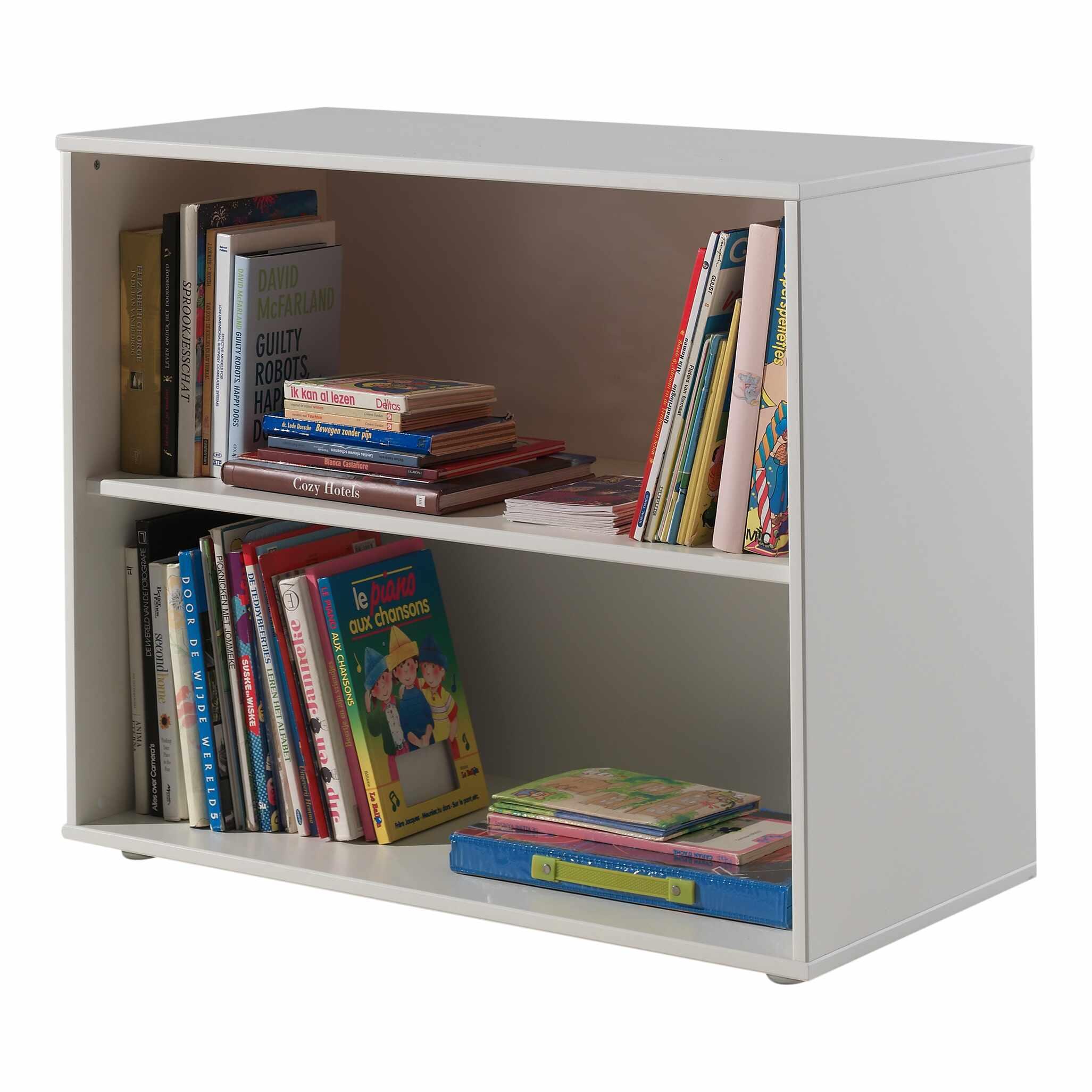 Biblioteca din MDF pentru copii Pino Alb, l85,5xA43,3xH71,8 cm la pret 853 lei