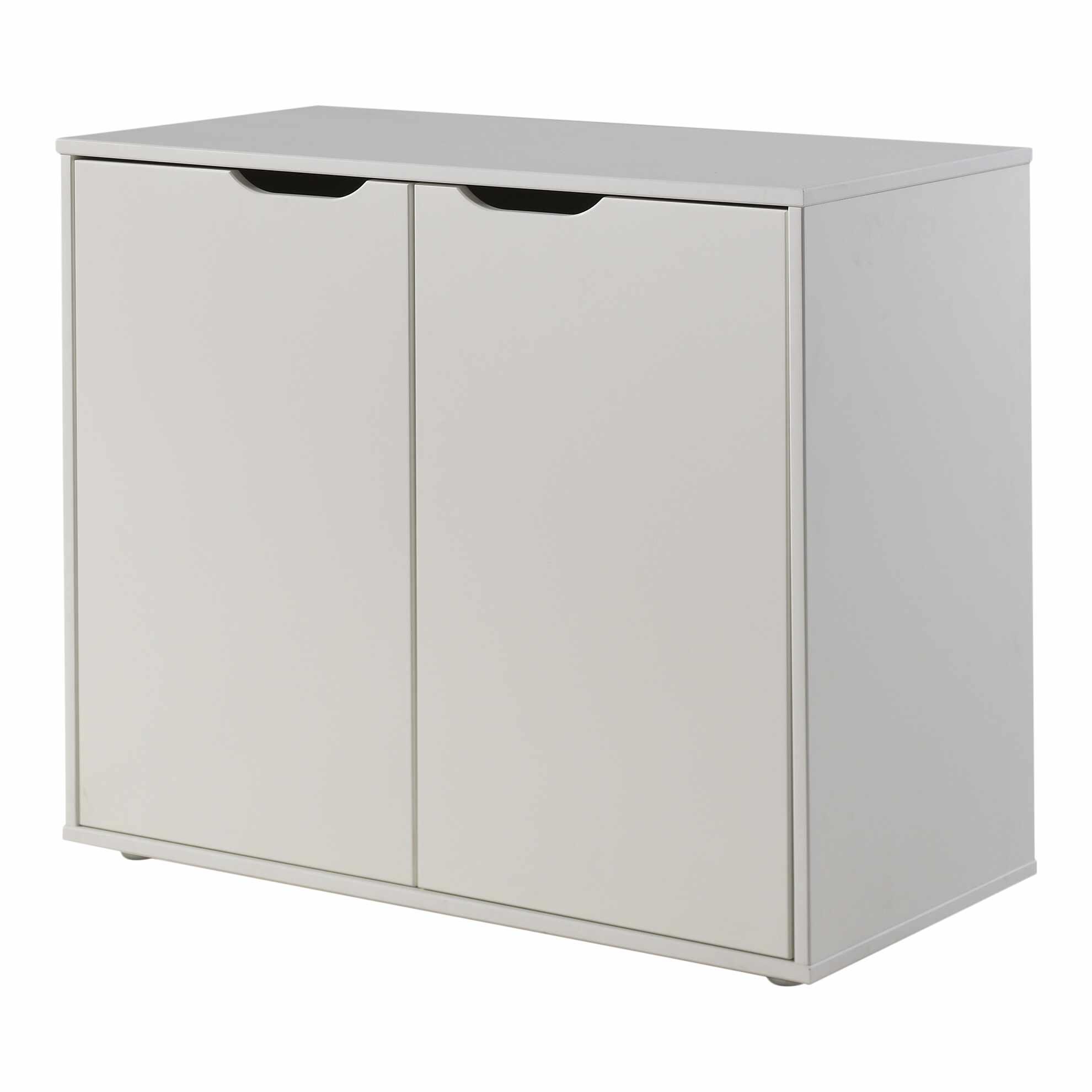 Cabinet din MDF cu 2 usi, pentru copii Pino Alb, l85,5xA43,3xH71,8 cm la pret 1040 lei
