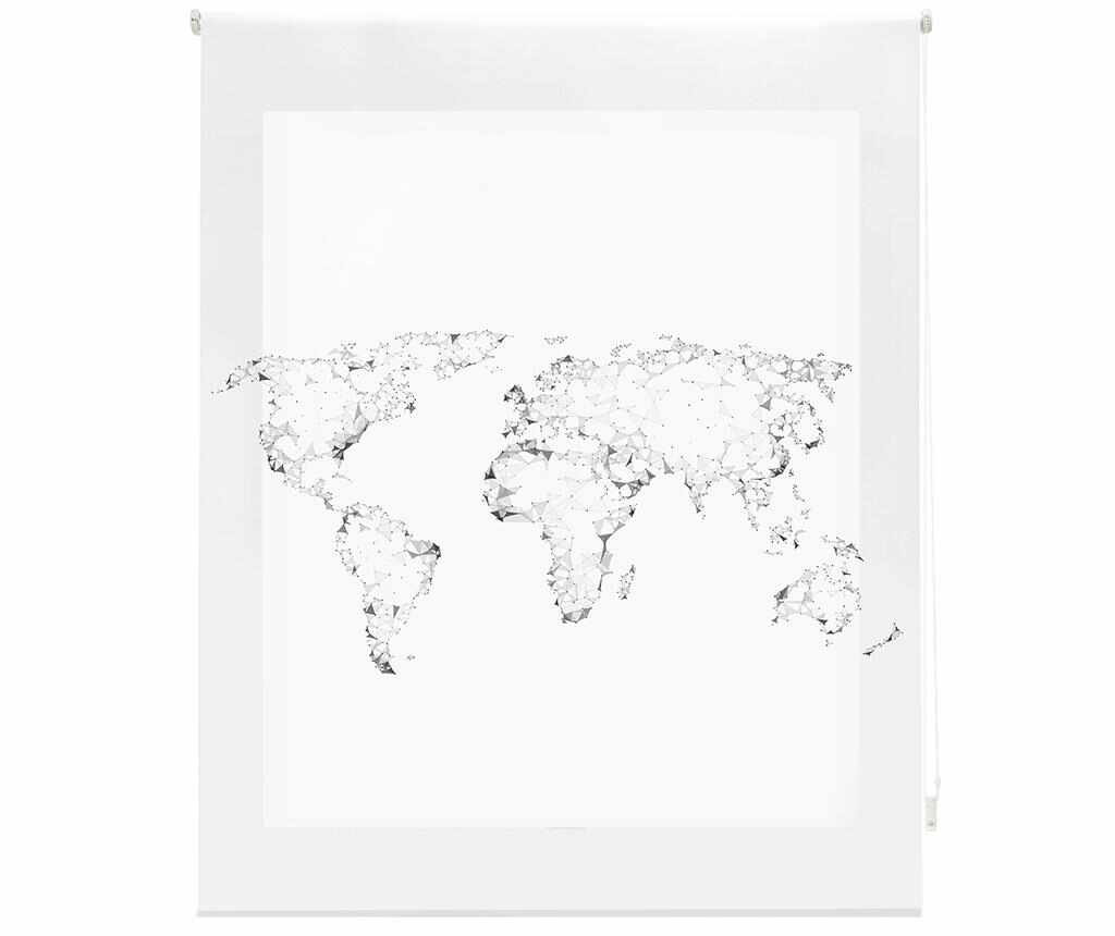 Jaluzea tip rulou World Map 160x180 cm